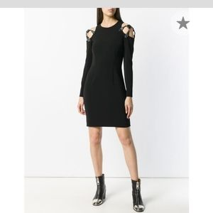 Moschino harness cold shoulder dress